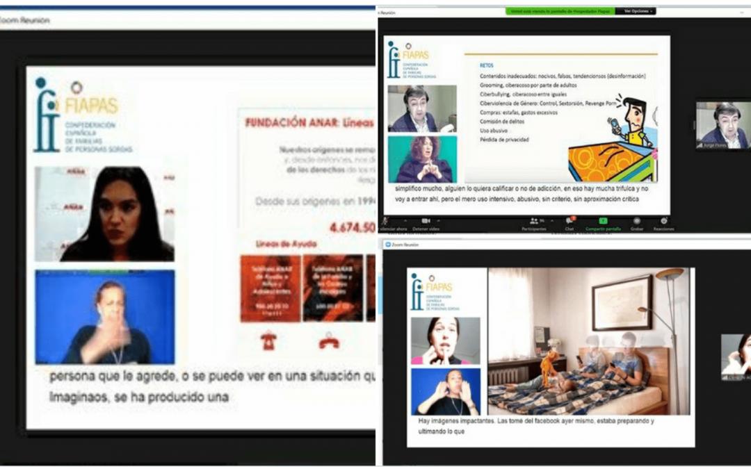 Formación para las familias y profesionales de FIAPAS para el uso saludable de Internet