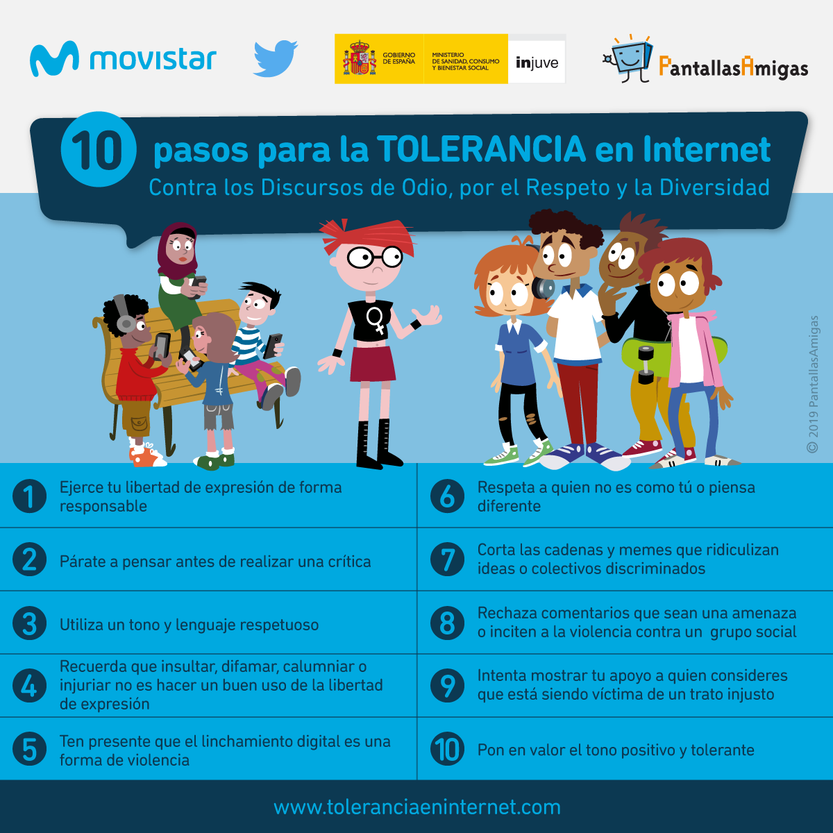 10 pasos para la tolerancia en Internet