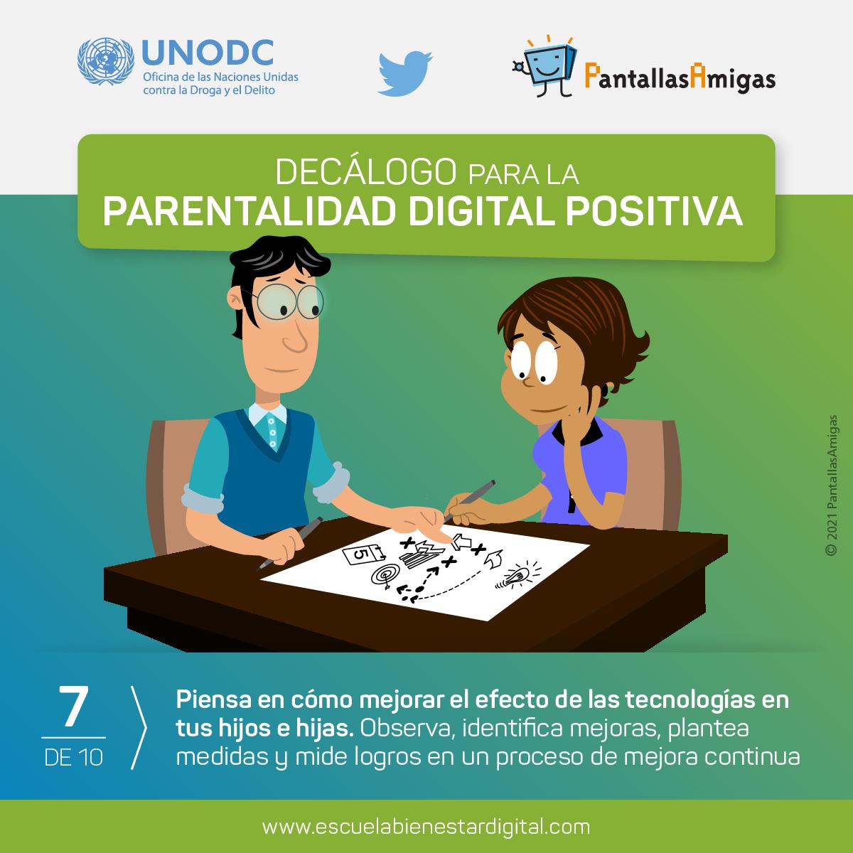 Piensa en cómo mejorar el efecto de las tecnologías en tus hijos e hijas.