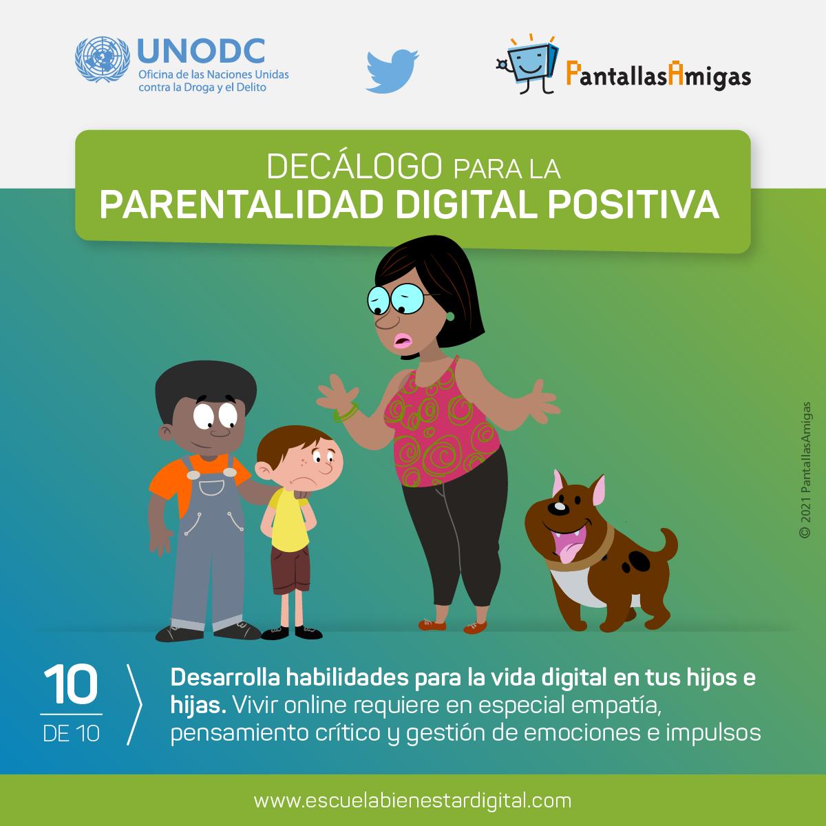 Desarrolla habilidades para la vida digital en tus hijos e hijas.