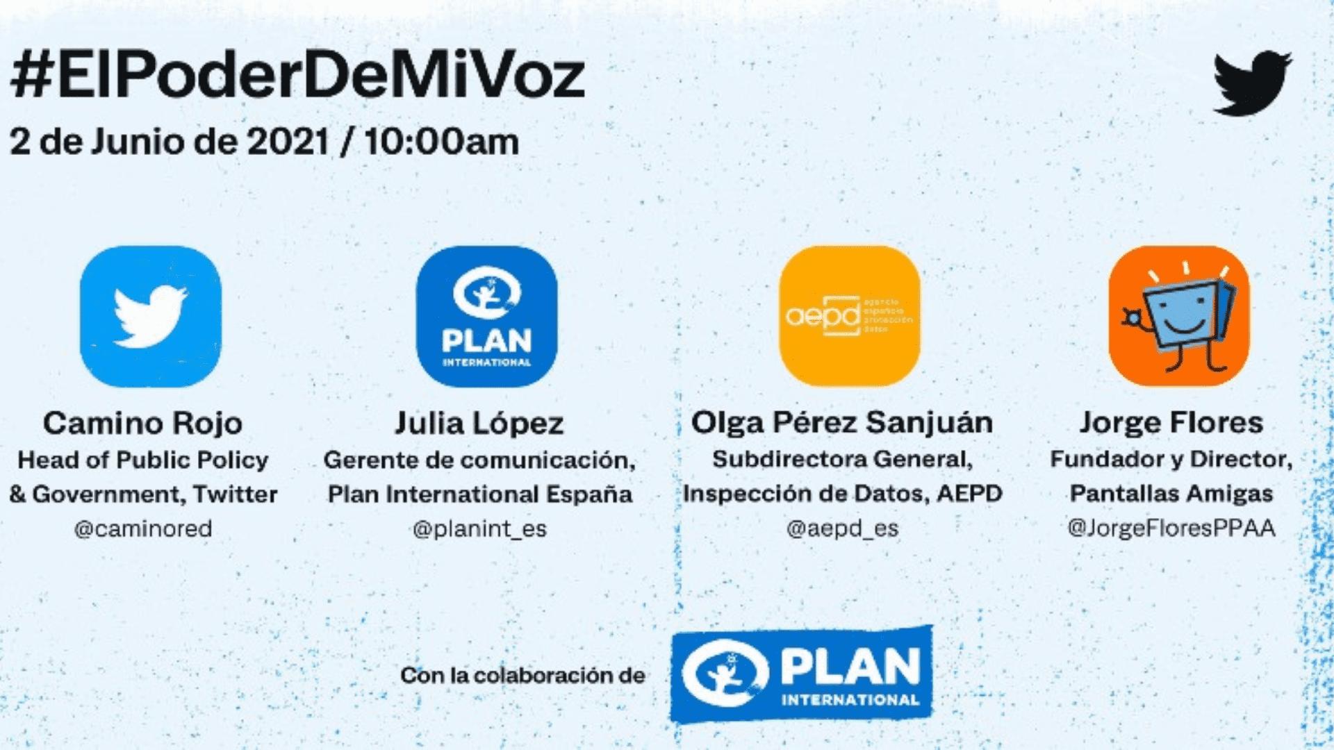"#ElPoderDeMiVoz, evento de Twitter con la sesión ""Seguras Online"""