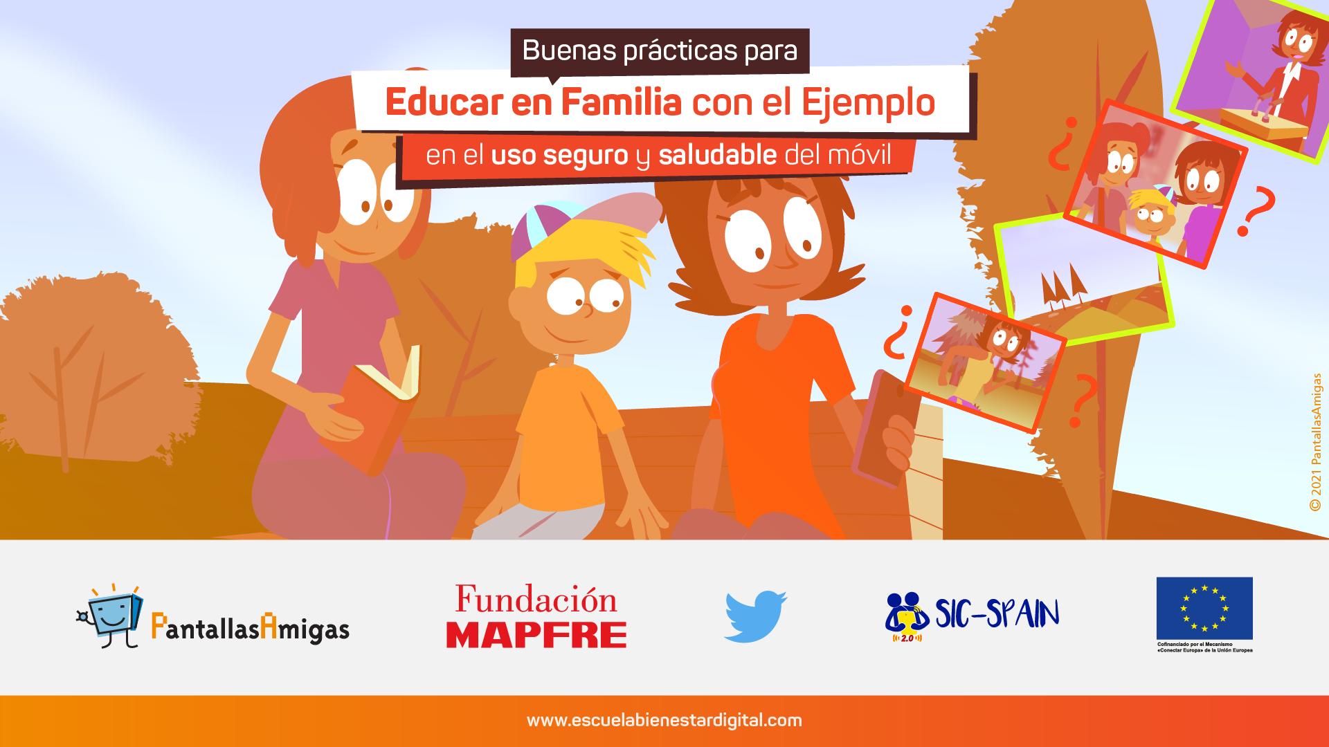 Decálogo de Buenas prácticas para Educar en Familia con el Ejemplo en el uso seguro y saludable del móvil