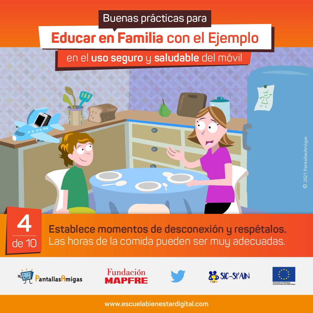Educar en familia con el ejemplo en el buen uso del móvil