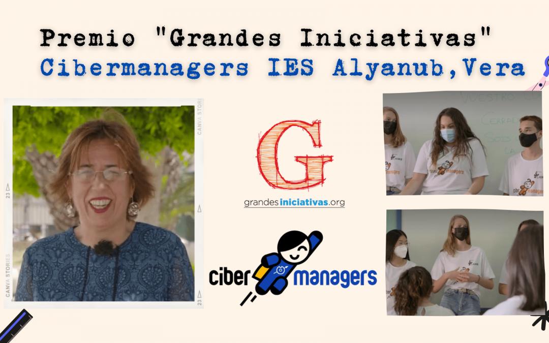 Mª Ángeles Moreno impulsora de Cibermanagers en IES Alyanub logra el premio Grandes Iniciativas en la categoría Convivencia en el aula